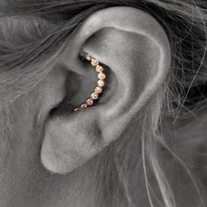 Pold Inside earring.