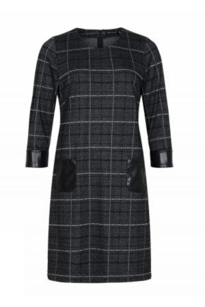Smart kjole i cool ternet print.