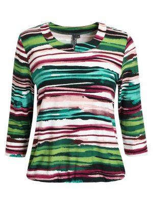 Signature bluse med striber.